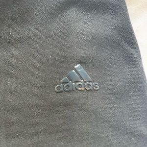 ADIDAS crop legging with grey waist band.